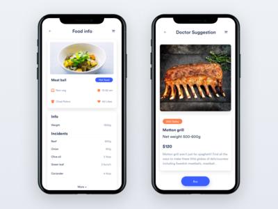 Doctor + Food app experience user mobile health goals food doctor diet diabetes calories app