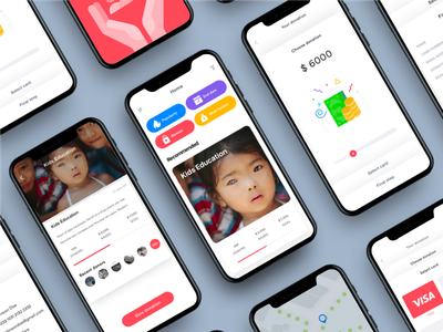 UI/UX Case Study: Charity App — Payment flow johnyvino women app watercolor vibrant ux ui type rights homepage global charity