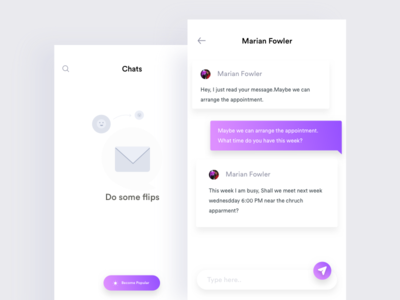 Minimal chat data dark card calendar bank app up in sign search navigation