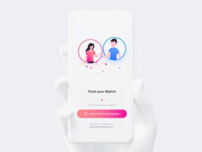 Find your match android ios video ux ui push match ios11 color apple app