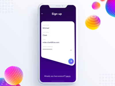Signup Screen ux ui travel ticket pass ios info flights boarding ar aep johnyvino