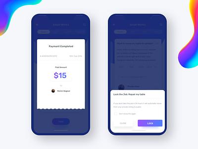 Pop - Payment confirmation, Make list question ui ux popup confirmation finance create bookmark johnyvino e-commerce list lock