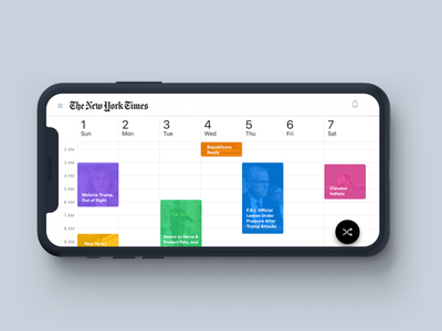 The New York Times - Timely paragraph calendar google news mobile ios reminder nyt article johnyvino personalized app