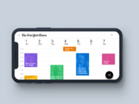 The newyork times calendar mode