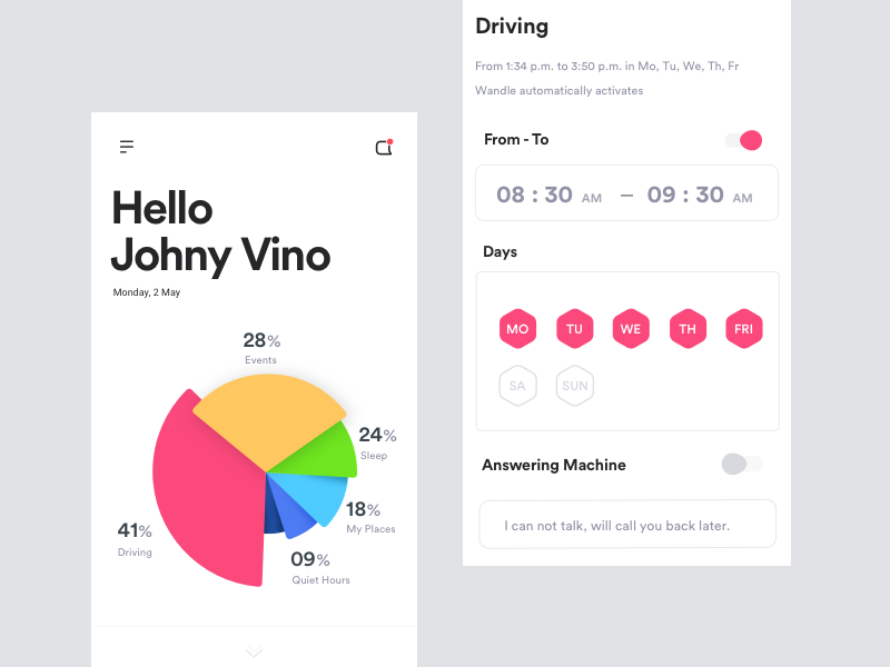 Safe Driving mode car vr ar ai speed notifications and calls mute mode driving safe