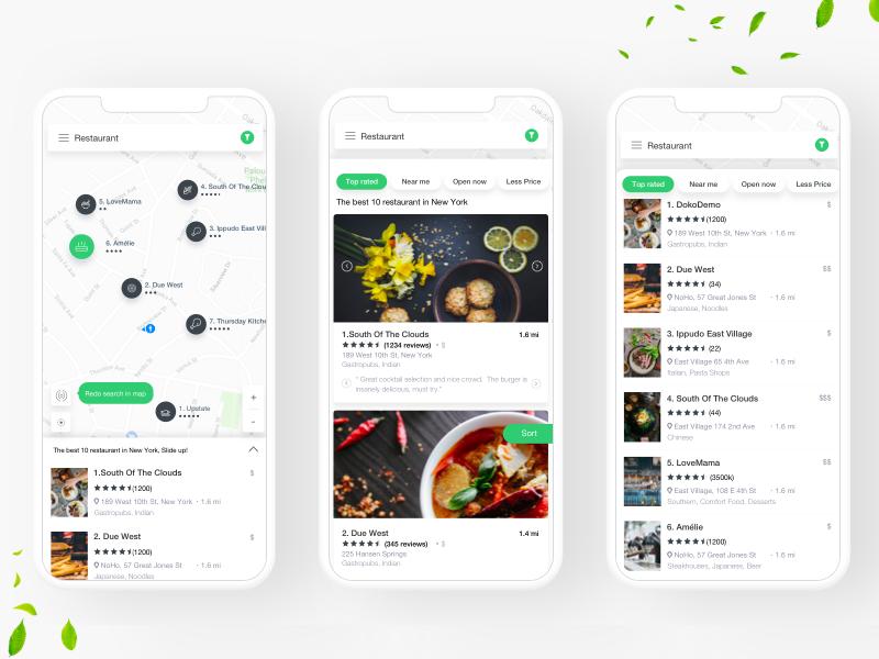 Freshfood userinterface ui plan mobile meal ios interaction food diet design app