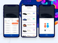Car test drive iOS app concept