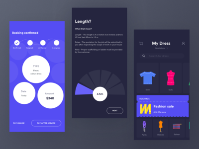 Shopping collection ux ui swipe swapper sports shopping selector picker ecommerce clothing