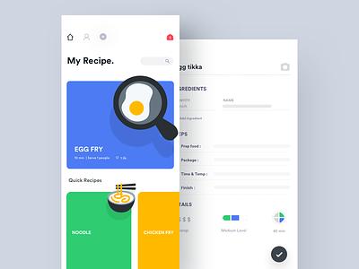 Recipe App vegetarian ux ui recipe motion mobile interface interaction food design app animation