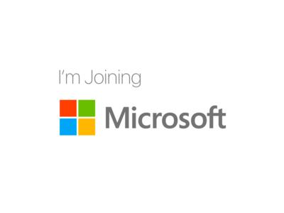 I'm joining Microsoft 💫