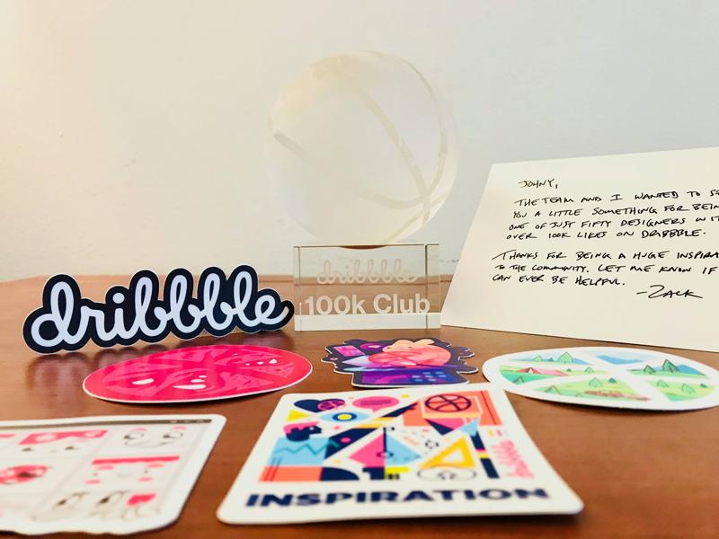 #100k Club johnyvino you thank gift dribbble crystal 100k