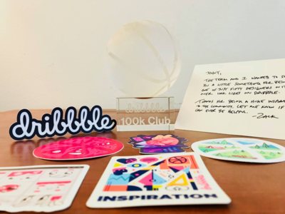 #100k Club johnyvino you thank gift dribbble crystal 100k