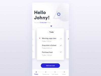 Todo List uidesign ui todo tasks task schedule mobileapp ios interface app