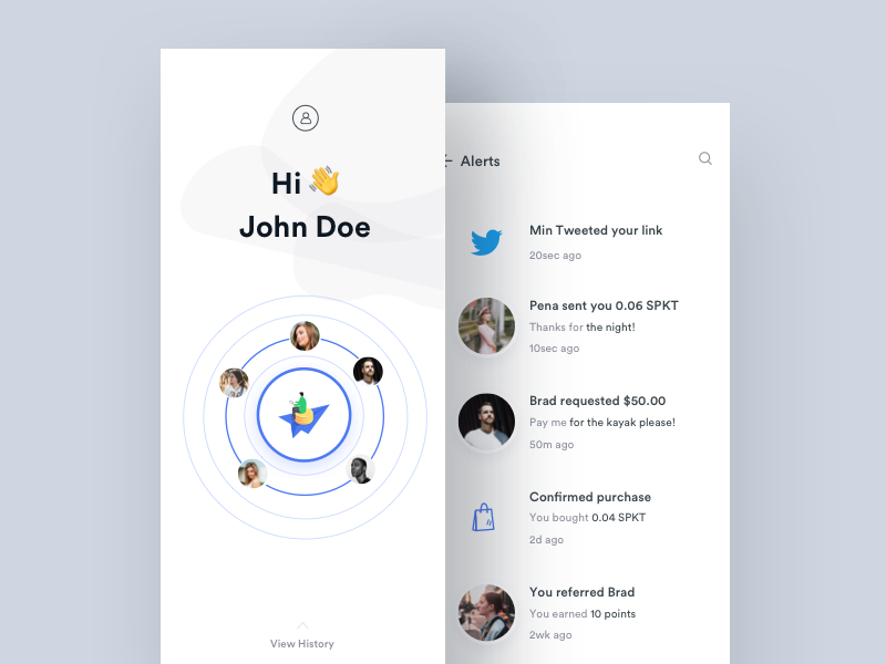 Send Money Quickly Minimal Interface Gif Interaction Animation Clean Ios Ux Wallet Ui Token Payment Mobile