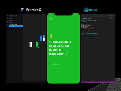 Design Quotes app [Framer X + React]