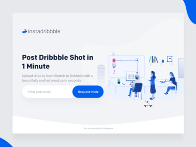 Cleanmock Join waiting list instadribbble johnyvino beautiful plugin sketch upload dribbble creator mockup