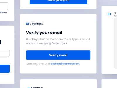 Email Verification app ui design animation mobile cleanmock johnyvino nearby reset password reset verification testing betas newsletter gmail email campaign email banner email blast email app email