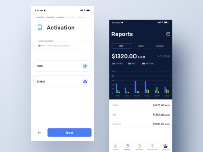 Reports dashboard interaction clean mobile ios ux ui johnyvino chart graph report design reporter reporting money finances finance financial finance business finance app finance reports