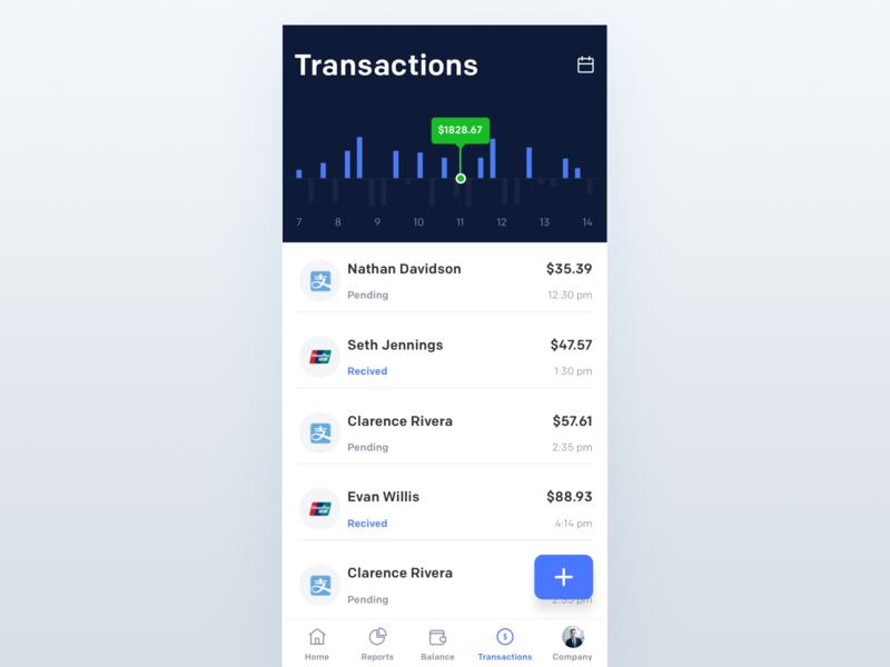 Transactions app johnyvino ux mobile finance financial finance business finance app trance transactions transactional transamerica tranquility transaction ui