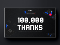 0 to 100,000 on Dribbble