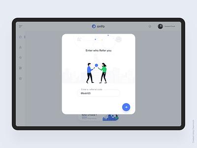 Referral dashboard ios interaction design animation clean mobile johnyvino invitaion invite giveaway invite friends invite design invite2 scaling invite message bitcoin code friend referal