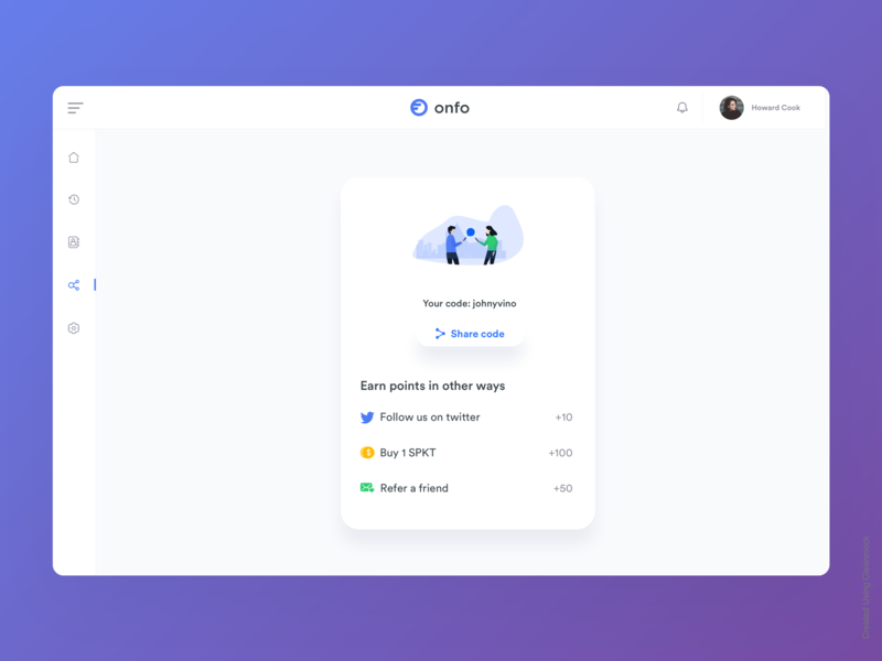 Refer friends illustration iphone minimal interface dashboard gif interaction design animation clean mobile ios ux johnyvino freight sans reference letter references reference referee refer