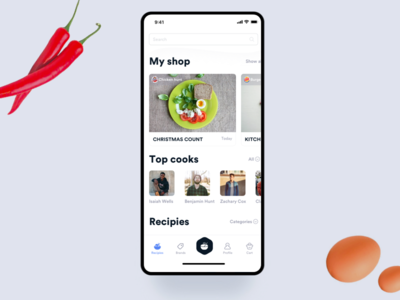 Myshop iphone interface design interaction clean mobile ios ux ui app johnyvino food and drink food and beverage food art food app shop design recipes cooks food shop