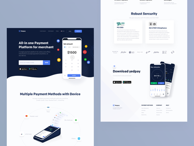 Yedpay home johnyvino branding typography vector logo illustration iphone minimal interface dashboard design interaction animation clean mobile bubble chart payment card business yedpay