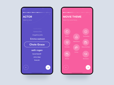 Movie app onboarding