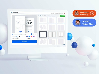 Cleanmock  #1 on Product hunt vector dashboard design animation app ios mobile ux ui johnyvino mock ups mockup download mockup design mockup creator mockup bundle mock-ups mock-up mock mock up mockup