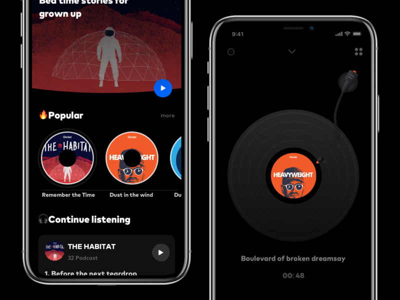 Brew player animation clean mobile ios ux ui johnyvino list setting player music ipod pod podcast cover podcast logo podcast art podcamp podcasting podcast brew