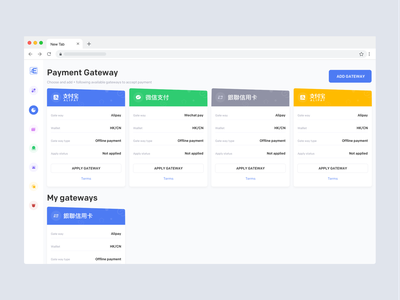 Payment Gateways ux ui app illustration johnyvino payment method pay per click paycheck pay now payment gateway poay payday pay payment form payment app payment