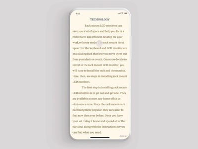 Focused reading experience booking goodreads reader book principle iphone minimal gif interface dashboard design interaction animation clean mobile ios ux ui app johnyvino