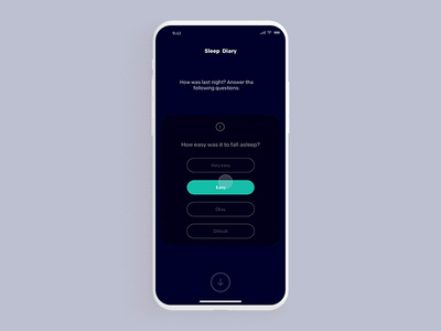 Sleep Diary ux minimal interface design interaction animation clean app depression depressed anxiety therapy music sleeprate sleeping beauty sleeping bag sleeping sleepy sleep johnyvino