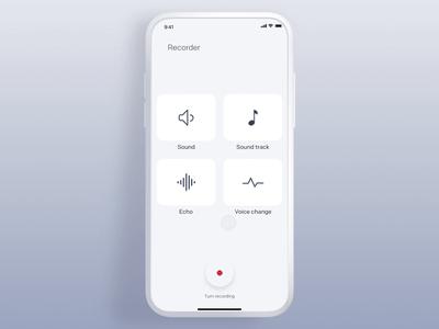 Composer - Voice Recording maker mixer track voice change echo sound interface gif design interaction animation clean mobile ios ux ui app johnyvino composer compose