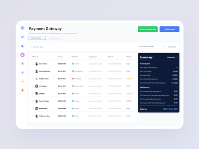 Transactions bank freelancing paid pending cash gate send withdraw money payment summary storeid ux ui app johnyvino gateway woods created gateway transactions