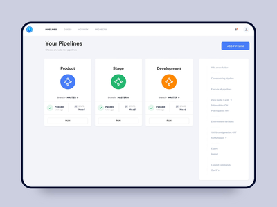 Buddy -  Add New Pipeline minimal interface principle dashboard design adoption apps deployments mobile ios ux interaction animation clean ui app johnyvino pipeline add new pipeline buddy