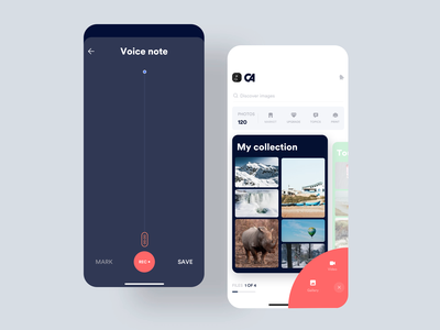Voice Notes minimal animation vector iphone interface design interaction clean mobile ios ux ui app volume voice search voice over voicemail voice assistant voice johnyvino