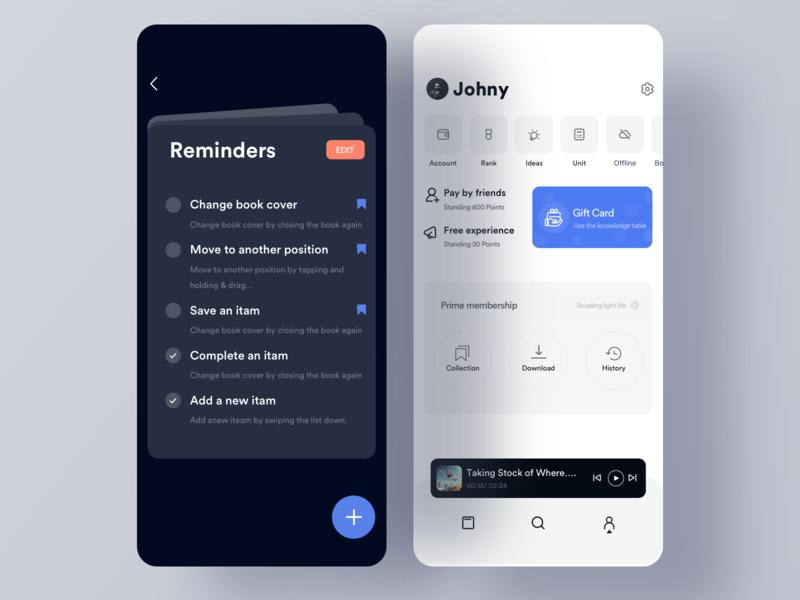 Reminder animation clean mobile ios ux johnyvino tools reminders todo app todolist todoist bew bookmark ui app task todo reminder