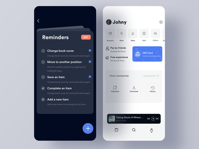 Reminder animation clean mobile ios ux johnyvino tools reminders todo app todolist todoist bew bookmark ui app task todo reminder