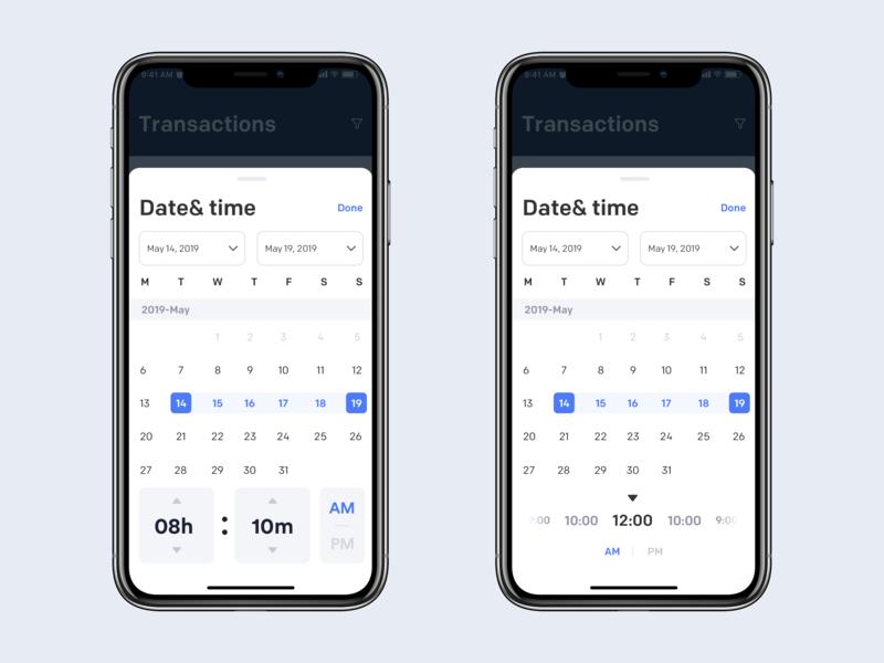 Date & Time Picker picker clean mobile ios ux ui app johnyvino timelapse timeless timeline timer time datetypography date picker datepicker dates date