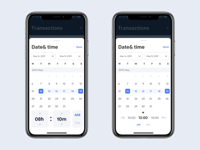 Date & Time Picker picker clean mobile ios ux ui app johnyvino timelapse timeless timeline timer time datetypography date picker datepicker dates date