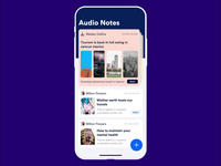 Audio to text notes