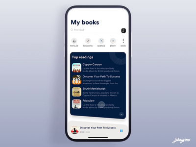 Audio Book ios ux ui app johnyvino poster design podcast logo podcast art audio player audiobooks audio app audiobook audio podcasting podcasts podcast