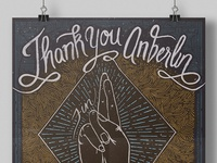 Anberlin Thank You Poster