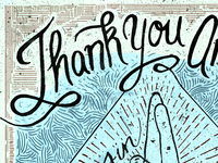 Anberlin Thank You Poster- White version