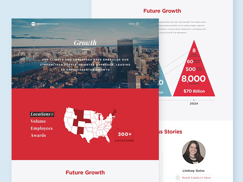 Growth Page web movement ui infographic ui design web design movement mortgage