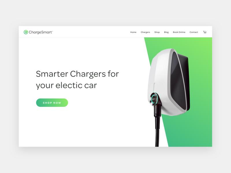 Chargesmart ecommerce design webdesign electric car ecommerce eco website ui