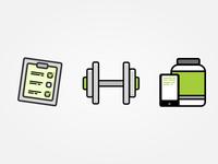 Fitness App Icon Set