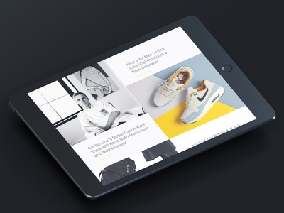 E commerce landing page for Hubrick